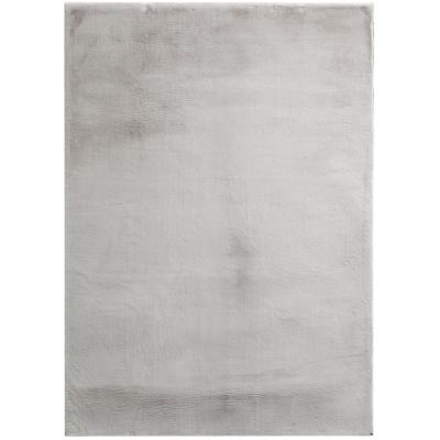 Bazaar Piper Gray 5 ft. x 7 ft. Solid Polyester Area Rug