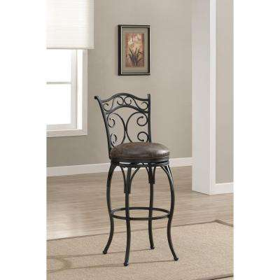 Solana 30 in. Graphite Cushioned Bar Stool