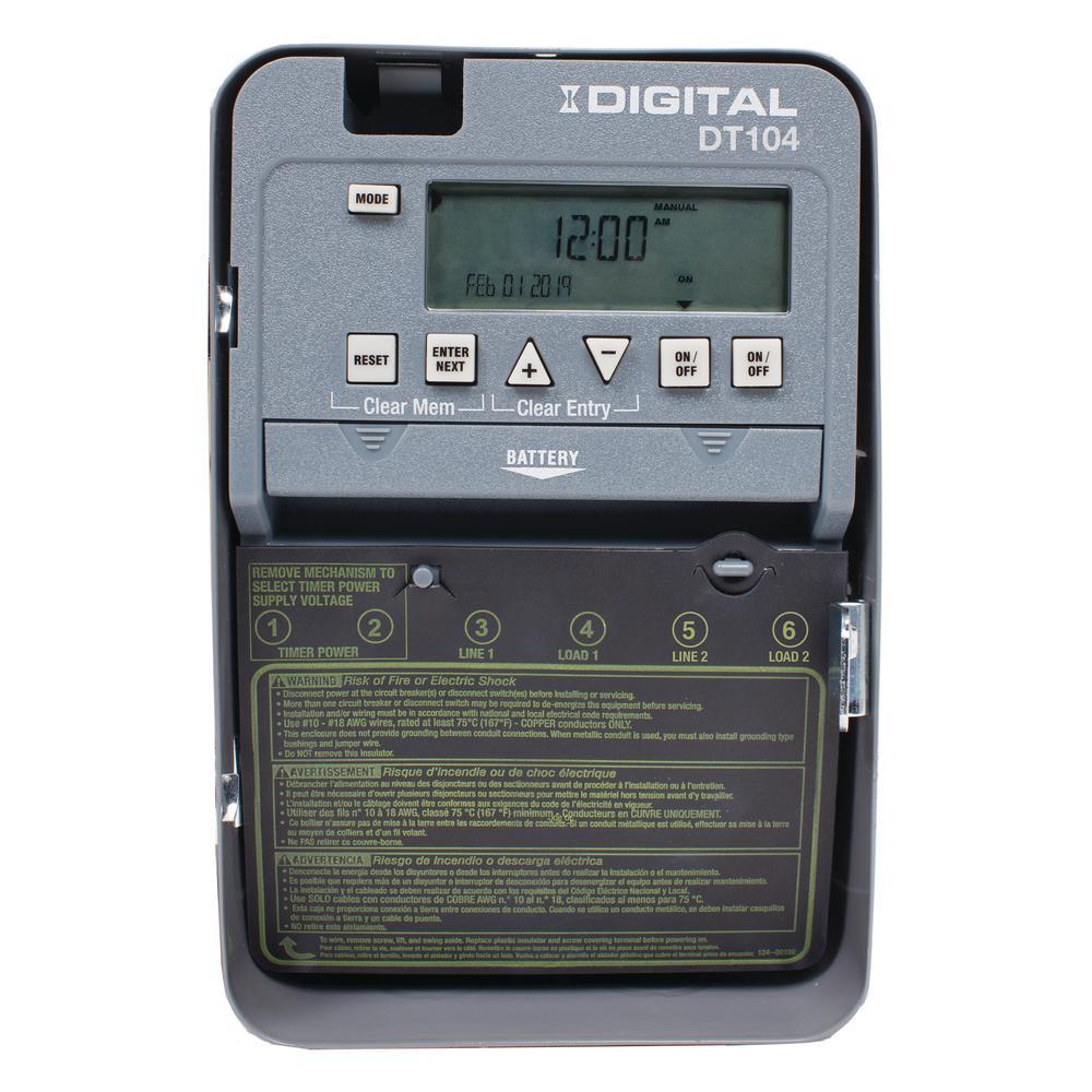 Intermatic DT122K 15 Amp 120V Heavy-Duty Indoor Programmable 7-Day Digital Timer