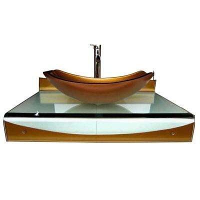 Wall-Mounted Bathroom Sink in Mustard Gold
