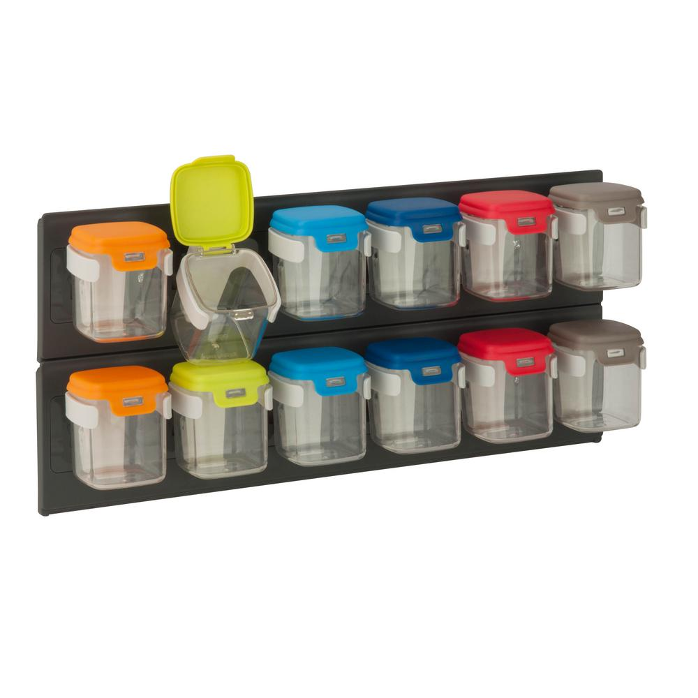 Honey Can Do Flip 12 Wall Mounted Storage Organizer STO 06627 The