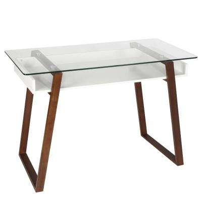 Segovia Walnut Glass Top Desk