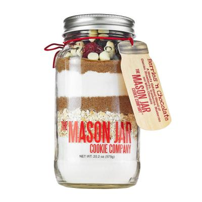 Berries N Chocolate Cookie mix in a MasonJar