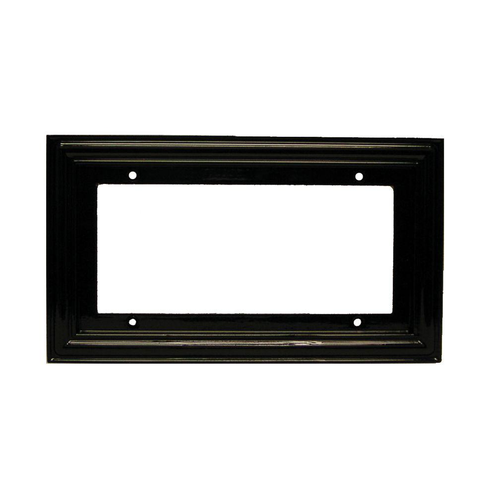 2 in. x 4 in. Black Standard Frame Number 4