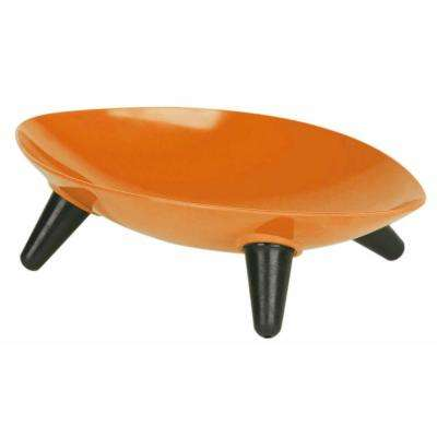 Melamine Couture Sculpture Single Dog Bowl in Orange