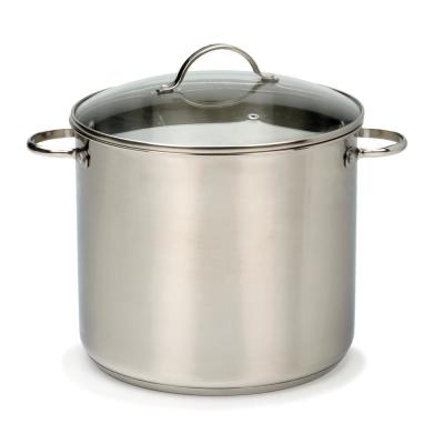 Endurance 12 qt. Stainless Steel Stock Pot with Glass Lid