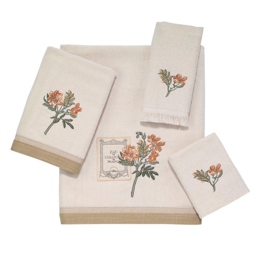 Alana 4-Piece Bath Towel Set in Ivory