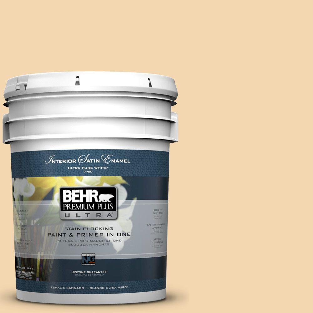 5-gal. #M270-3 Cream Custard Satin Enamel Interior Paint