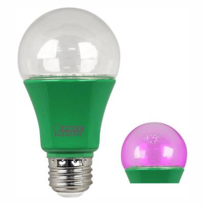 60-Watt Equivalent A19 Medium E26 Base Non-Dimmable Indoor and Outdoor Full Spectrum LED Plant Grow Light Bulb