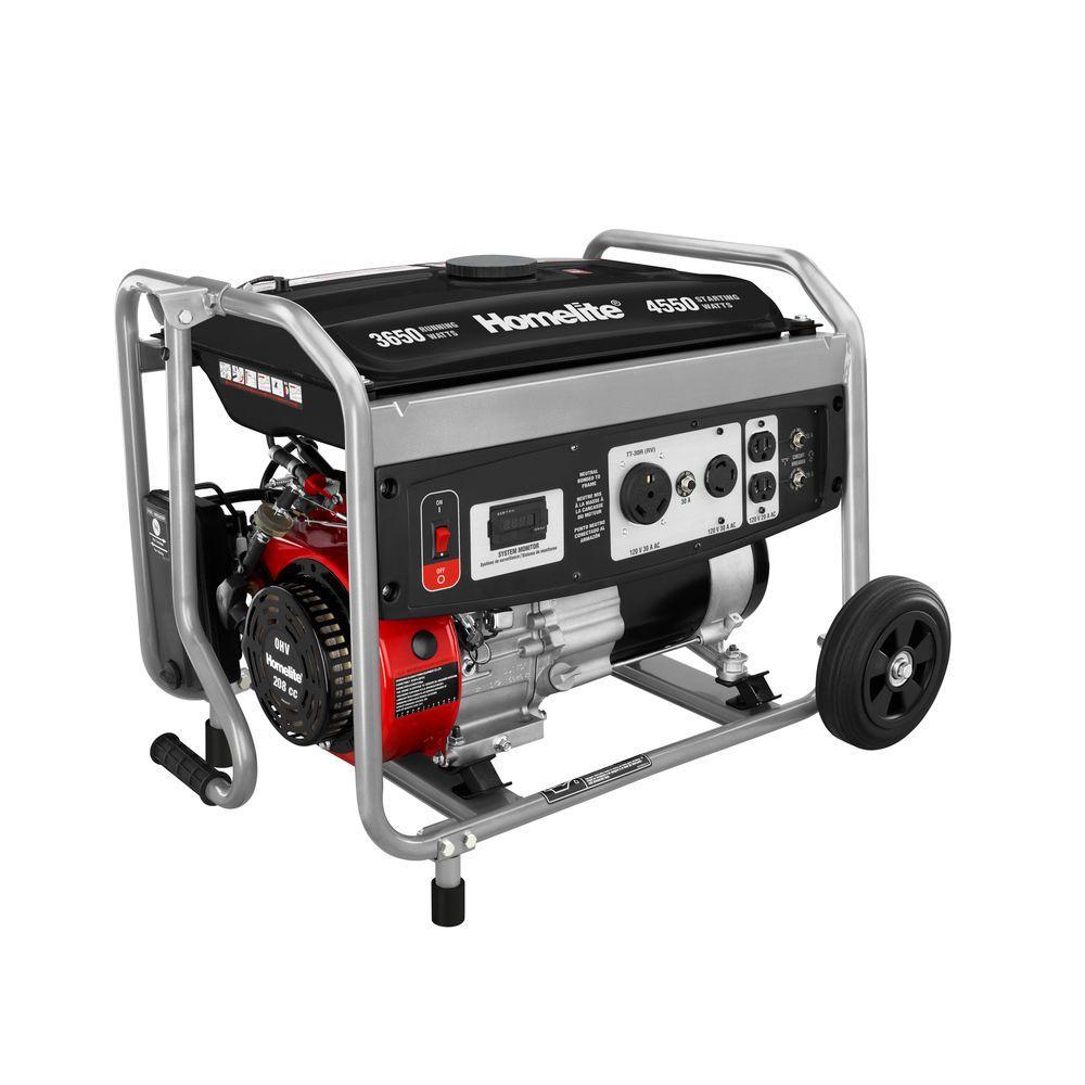3,650-Watt 208cc Gasoline Powered Portable Generator