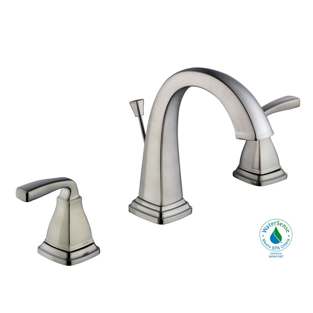 Mason 8 in. Widespread 2-Handle High-Arc Bathroom Faucet in Brushed Nickel