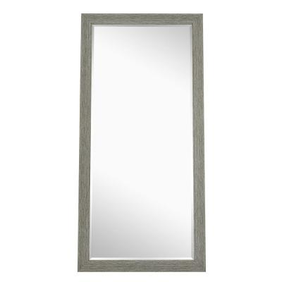 Oversized Gray Wood Beveled Glass Classic Mirror (72 in. H X 28 in. W)