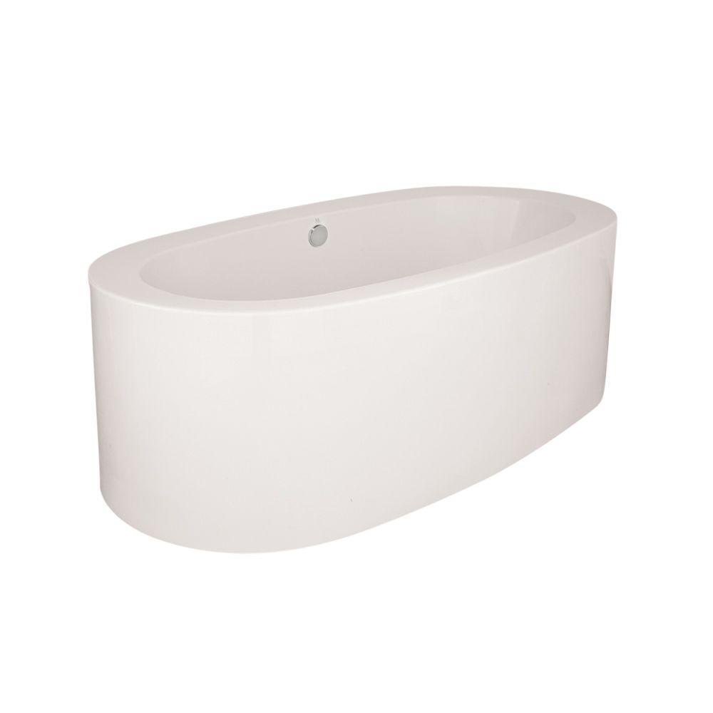 Hydro Systems Shreveport 72 In Acrylic Flatbottom Air Bath Bathtub In White