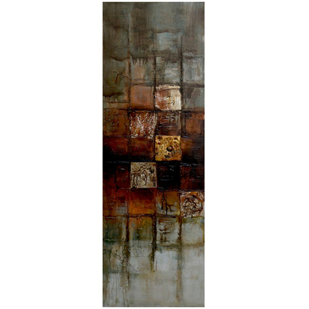 Yosemite Home Decor 59 in. x 19.5 in. Interaction I Hand Painted Contemporary Artwork