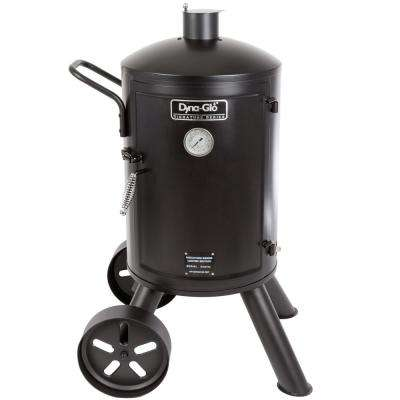 Signature Heavy-Duty Vertical Charcoal Smoker in Black