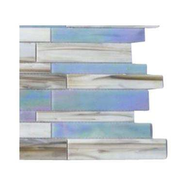 Matchstix Fate 3 in. x 6 in. x 3 mm Glass Mosaic Floor and Wall Tile Sample