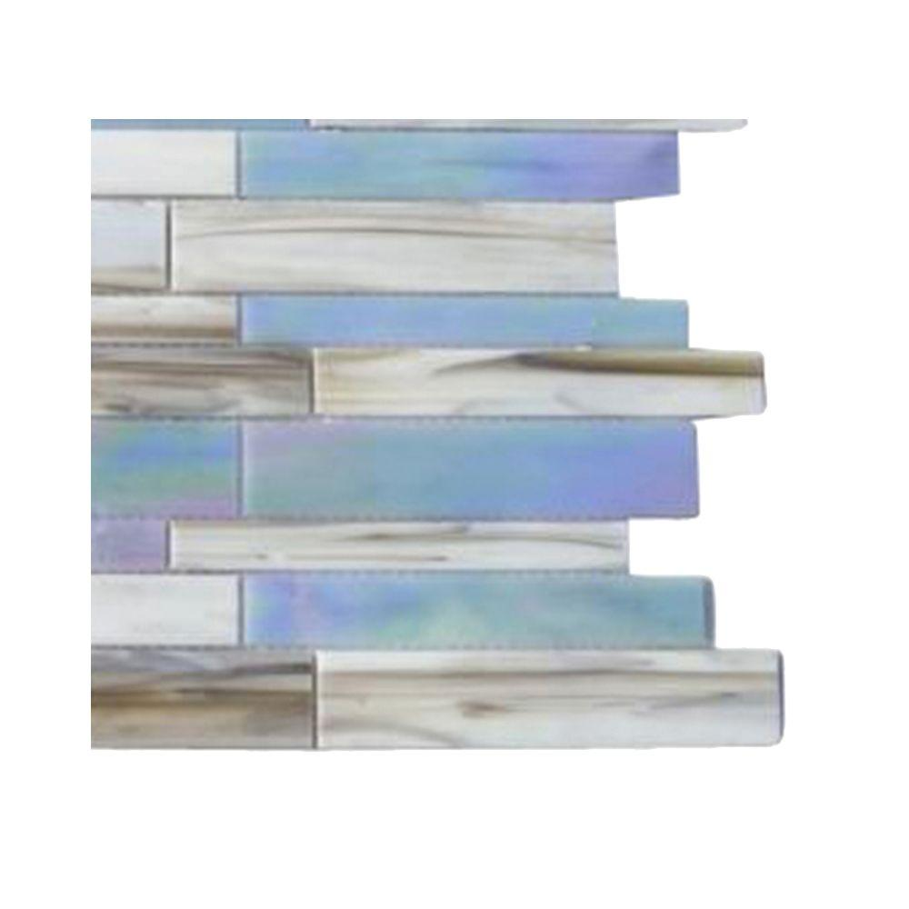 Splashback Tile Matchstix Fate 3 in. x 6 in. x 3 mm Glass Mosaic Floor and Wall Tile Sample