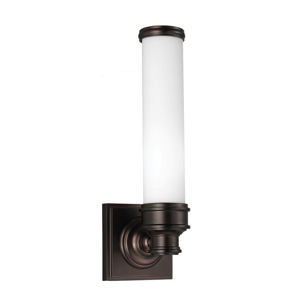 Payne 1-Light Dark Plated Bronze Vanity Light