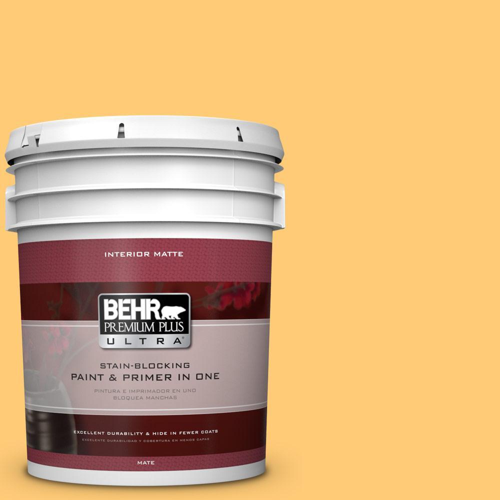 BEHR Premium Plus Ultra 5 gal. #310B-5 Spiced Butternut Flat/Matte Interior Paint