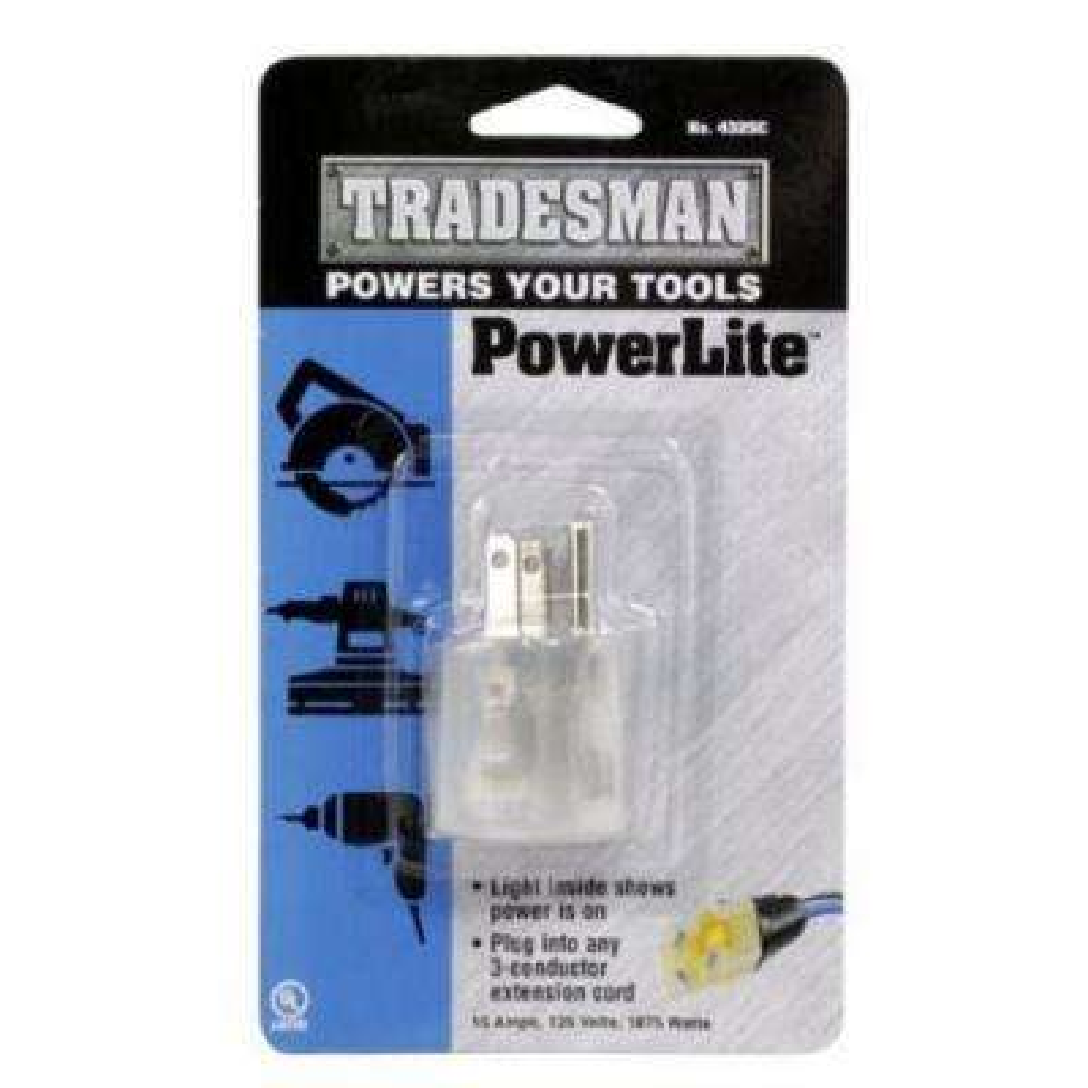 15 Amp Extension Cord Power Light Plug Adapter