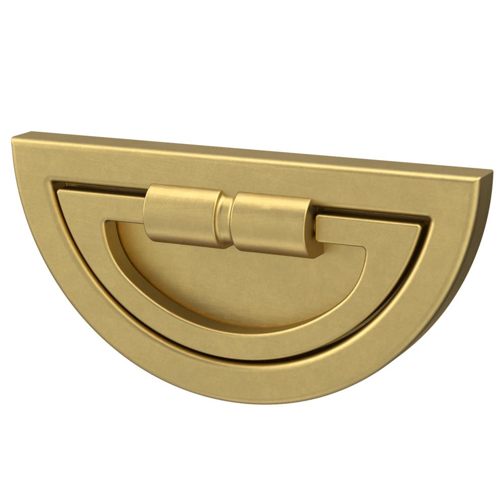 Liberty Warm Industrial 3 in. (76mm) Center-to-Center Brushed Brass Campaign Drawer Pull