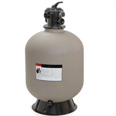 24 in. Swimming Pool Sand Filter System with 7-Way Valve In-Ground