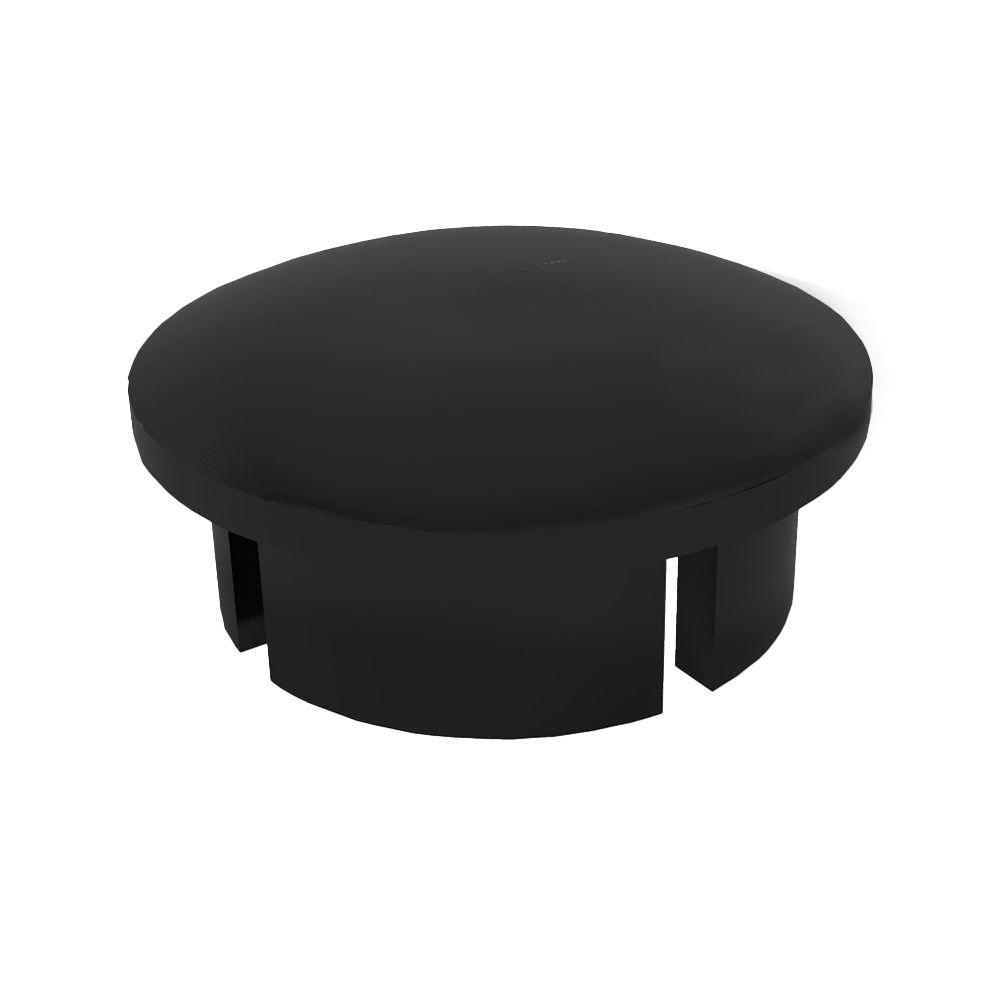 1-1/2 in. Furniture Grade PVC Internal Dome Cap in Black (10-Pack)