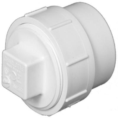 6 in. DWV PVC FTG Cleanout Adapter with Plug