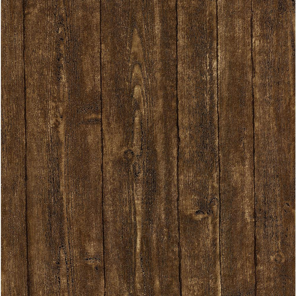 Brewster 8 in x 10 in ardennes brown wood panel for Brewster wallcovering wood panels mural 8 700