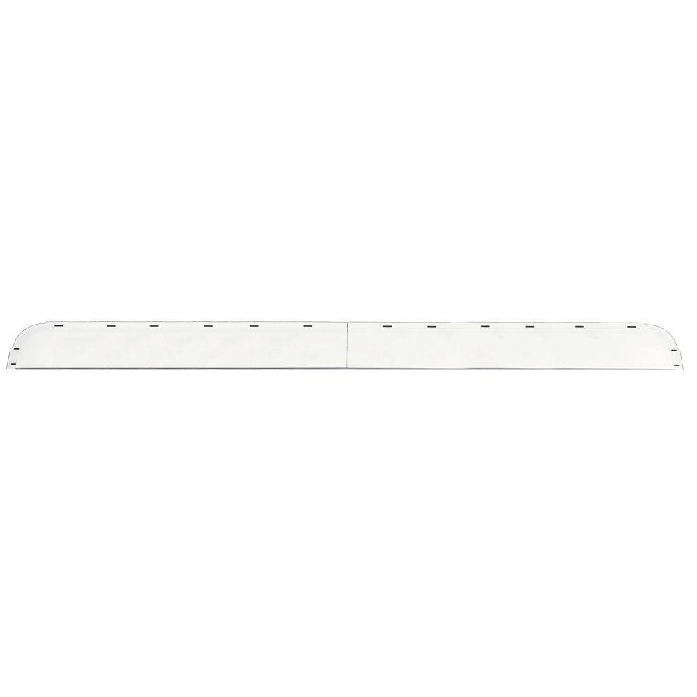 Builders Edge 6 in. x 73 5/8 in. J-Channel Back-Plate for Window Header in 001 White