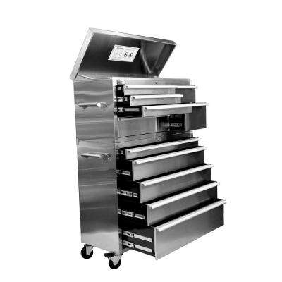 41 in. 11- Drawer Tool Chest and Cabinet Combo in Stainless Steel