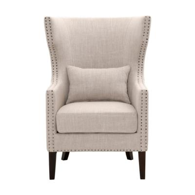 Bentley Birch Neutral Upholstered Arm Chair