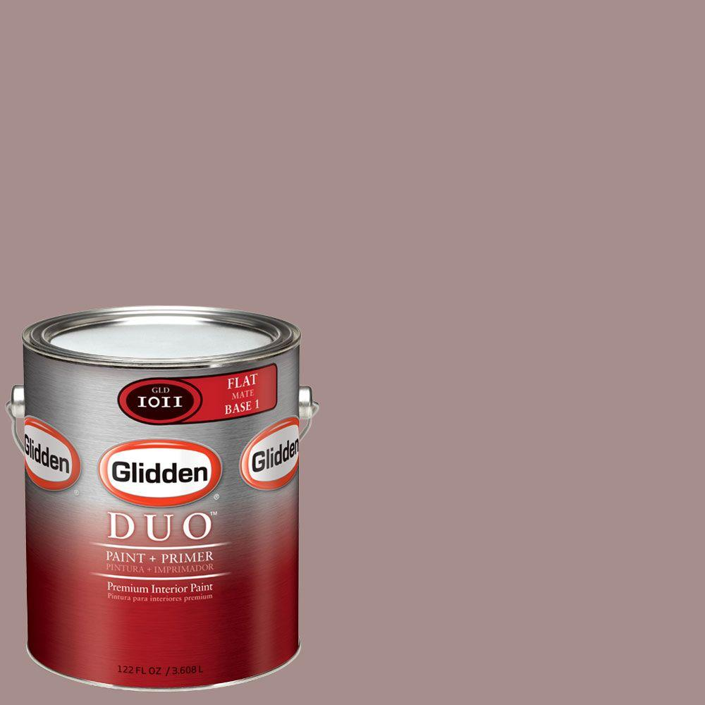 Glidden DUO Martha Stewart Living 1-gal. #MSL173-01F Heathered Moor Flat Interior Paint with Primer - DISCONTINUED