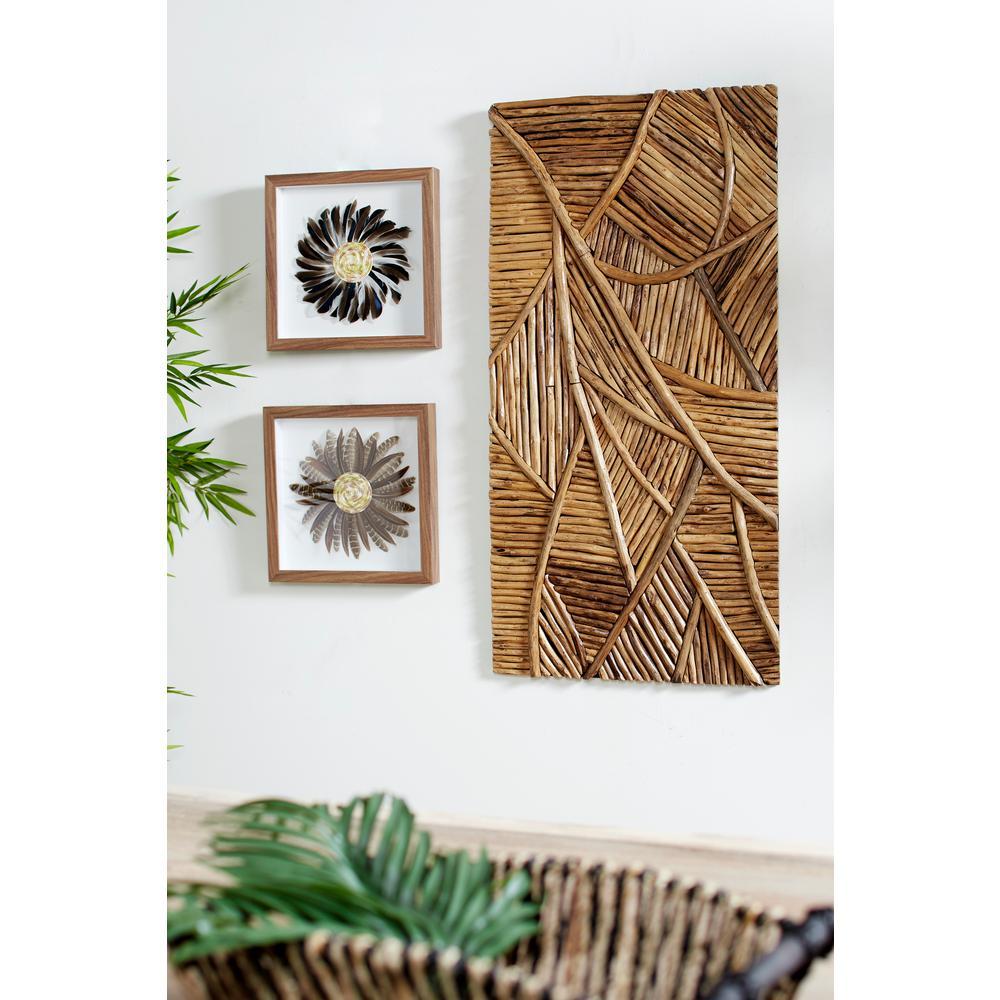 Handmade Reclaimed Teak Wood Wall Art
