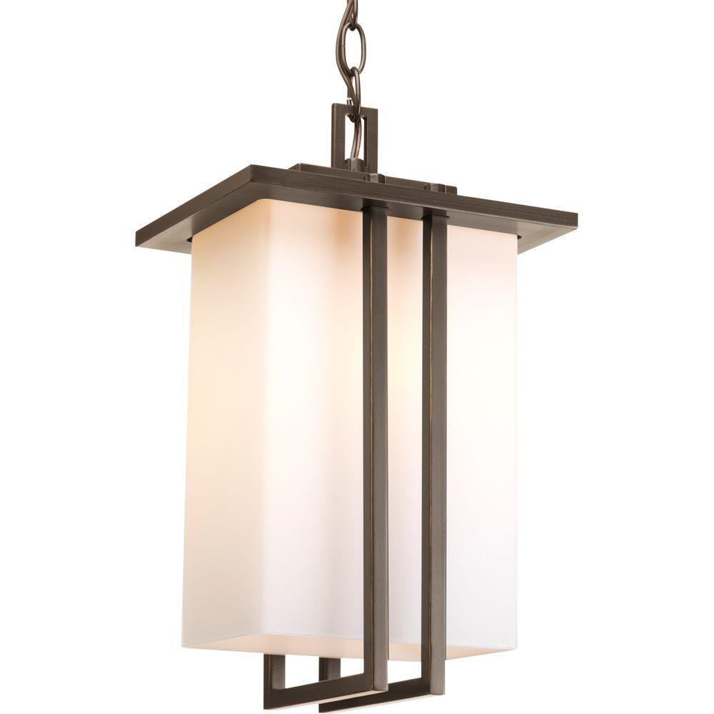Dibs Collection 1-Light Antique Bronze Outdoor Hanging Lantern
