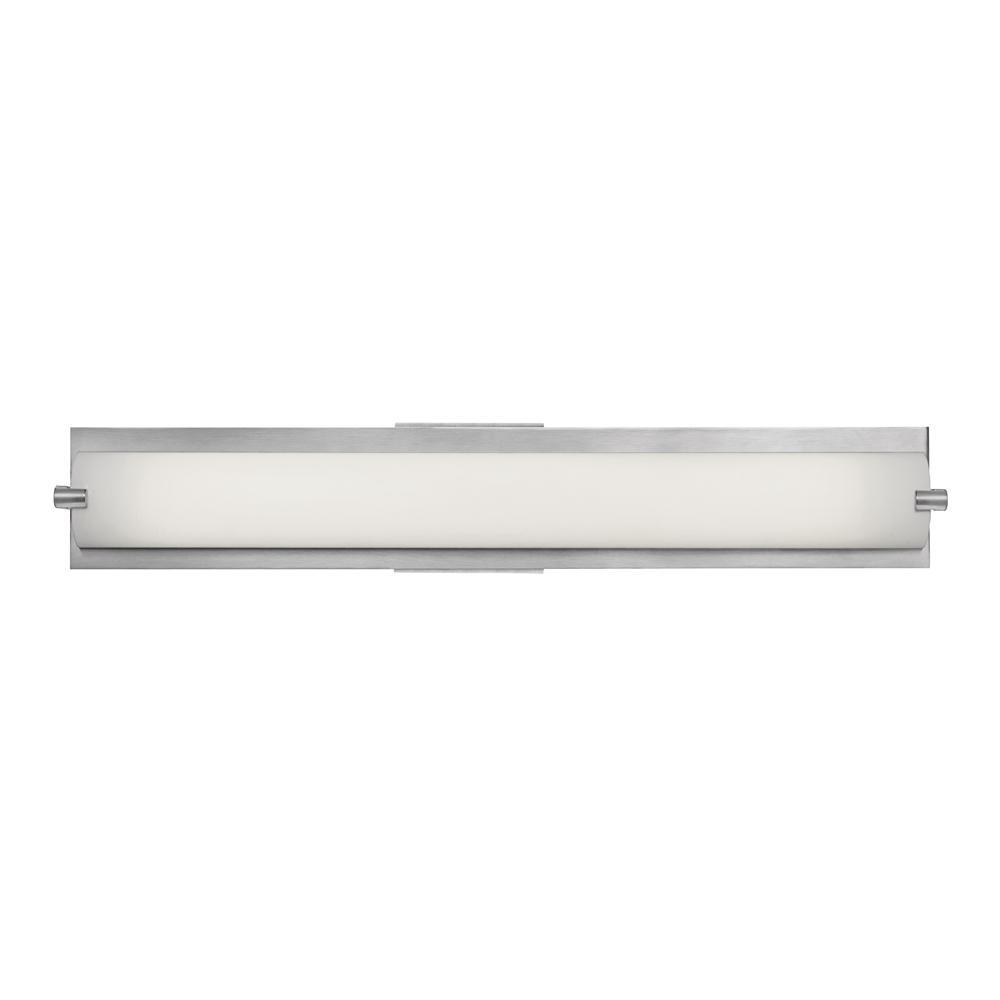 Access Lighting Geneva 30 Watt Brushed Steel Integrated Led Bath Light