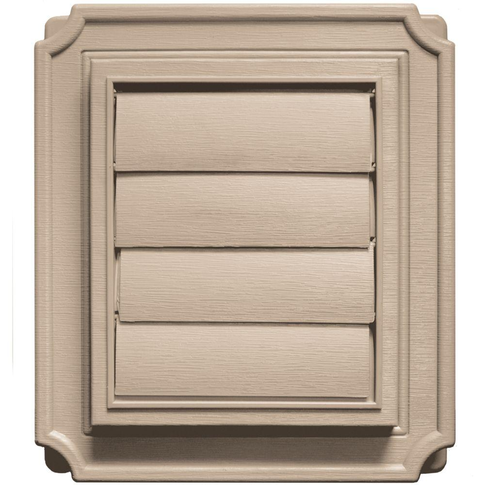 Builders Edge 7.875 in. x 7.875 in #023 Wicker Scalloped Exhaust Siding Vent