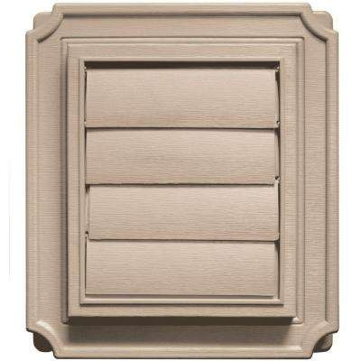 7.875 in. x 7.875 in #023 Wicker Scalloped Exhaust Siding Vent