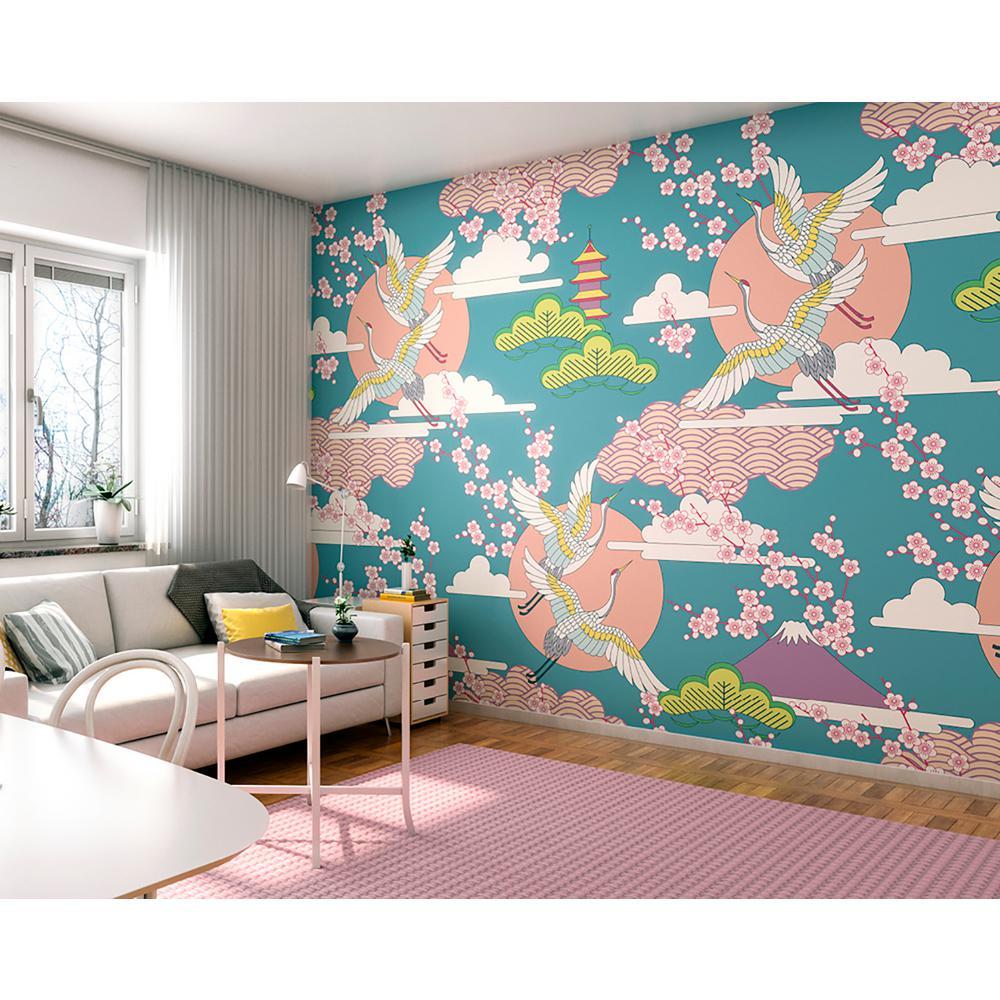 Oriental Birds Wall Mural