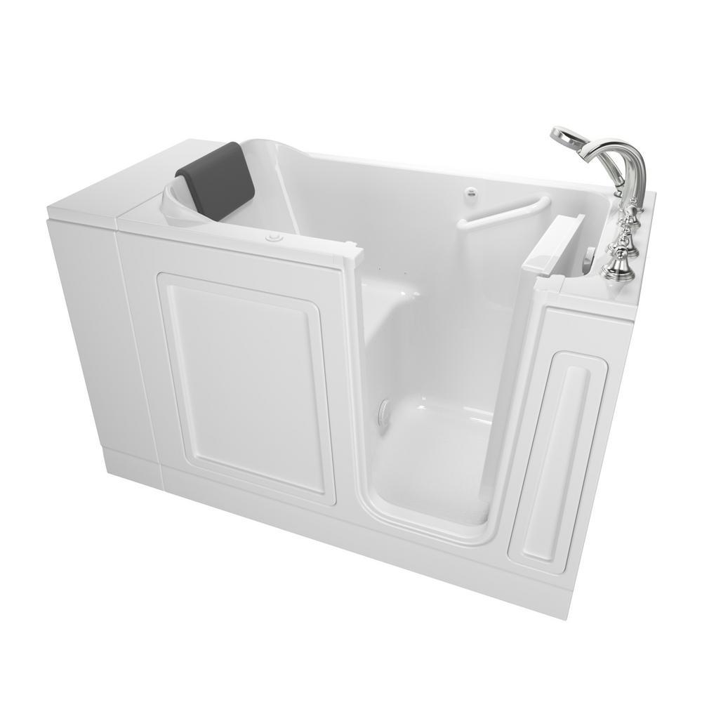 Acrylic Luxury 48 in. Right Hand Walk-In Air Bathtub in White