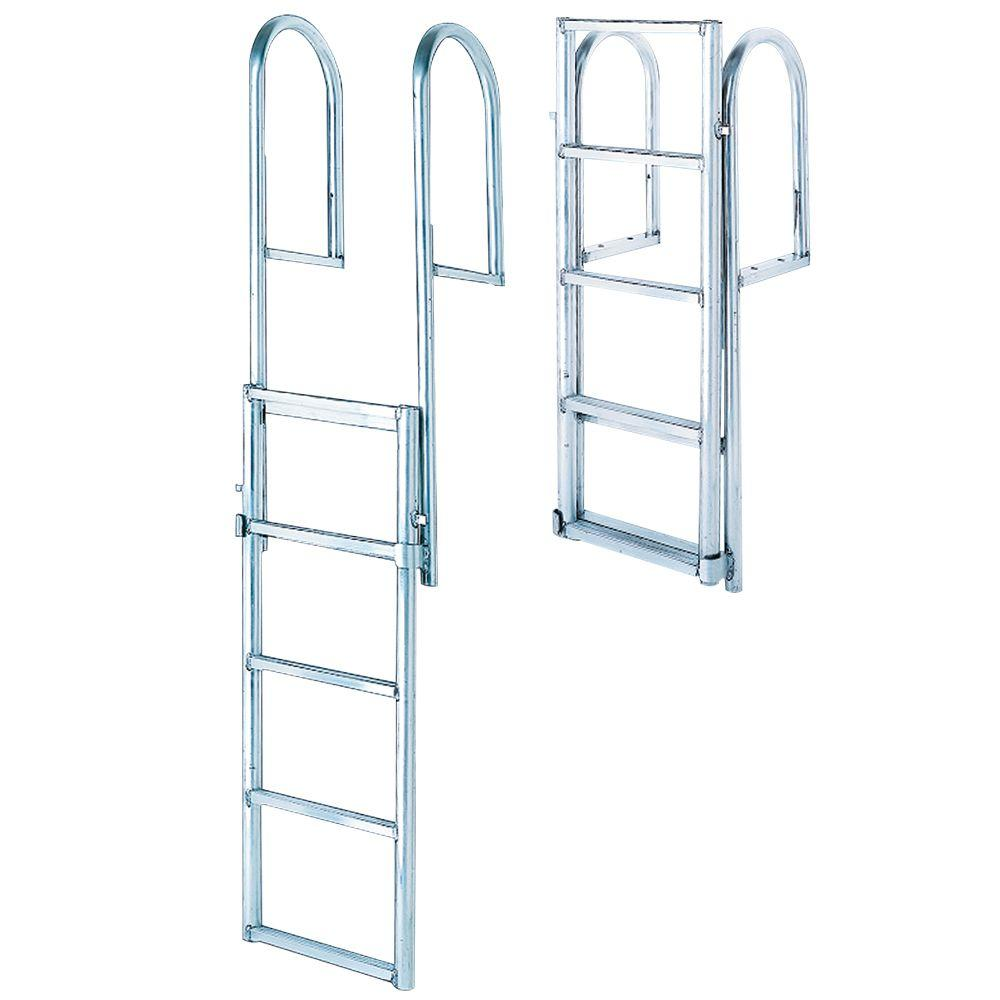 Tommy Docks 4- Step Standard Rung Lifting Aluminum Dock Ladder