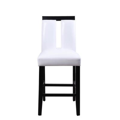 Bernice White PU and Black Counter Height Chair (Set of 2)