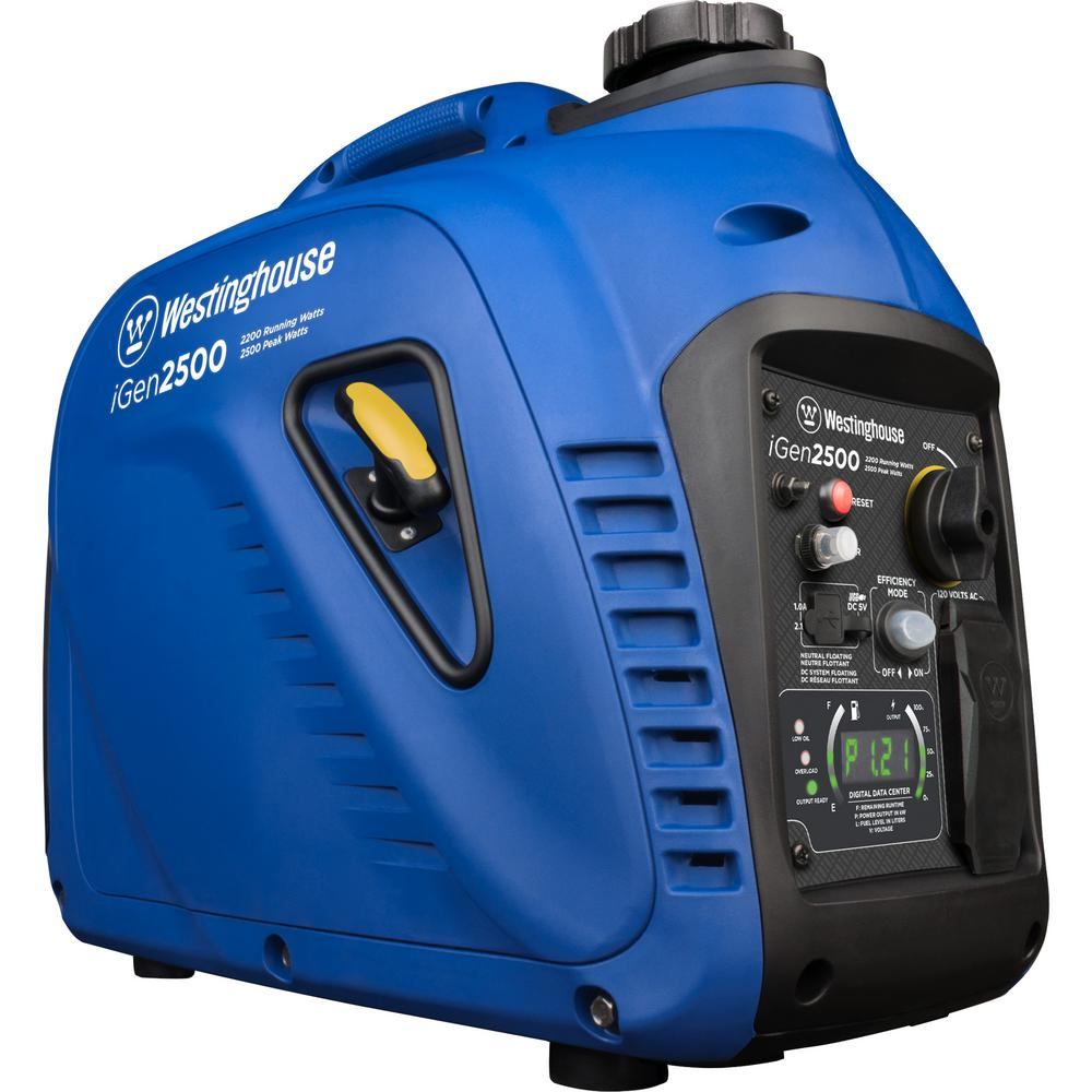 Westinghouse 2,500/2,200-Watt Super Quiet Gas Powered Inverter Generator with LED Display