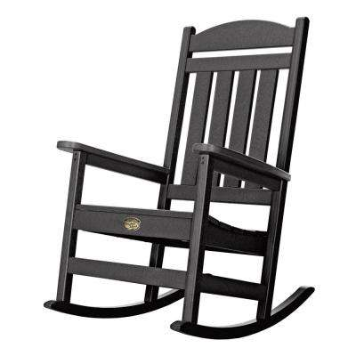 DuraWood Patio Porch Rocker in Black