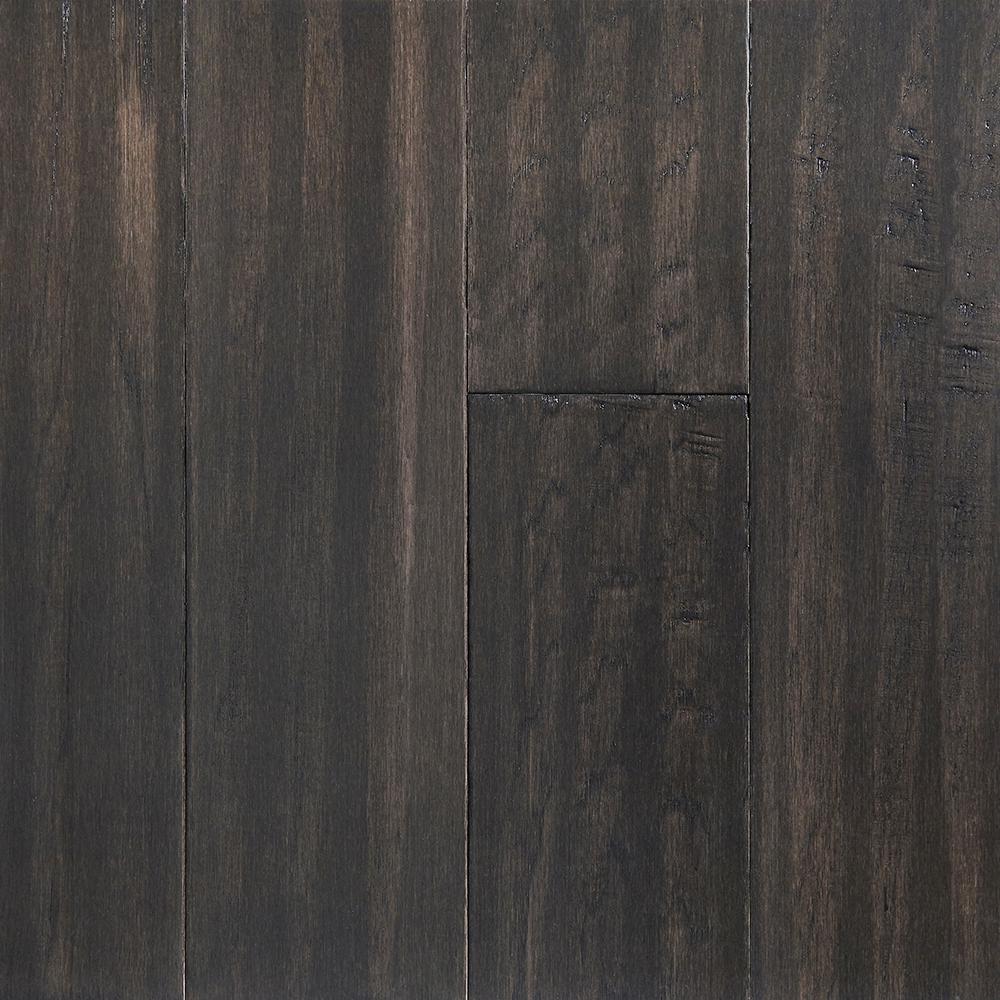 OptiWood Shadow Gray 0.28 in. Thick x 5 in. Width x Varying Length Waterproof Engineered Hardwood Flooring (16.68 sq. ft./case)