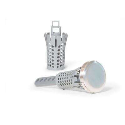 2 in. Brush Nickel Drain Strain Stopper Special with 3-Baskets (2-Pack)