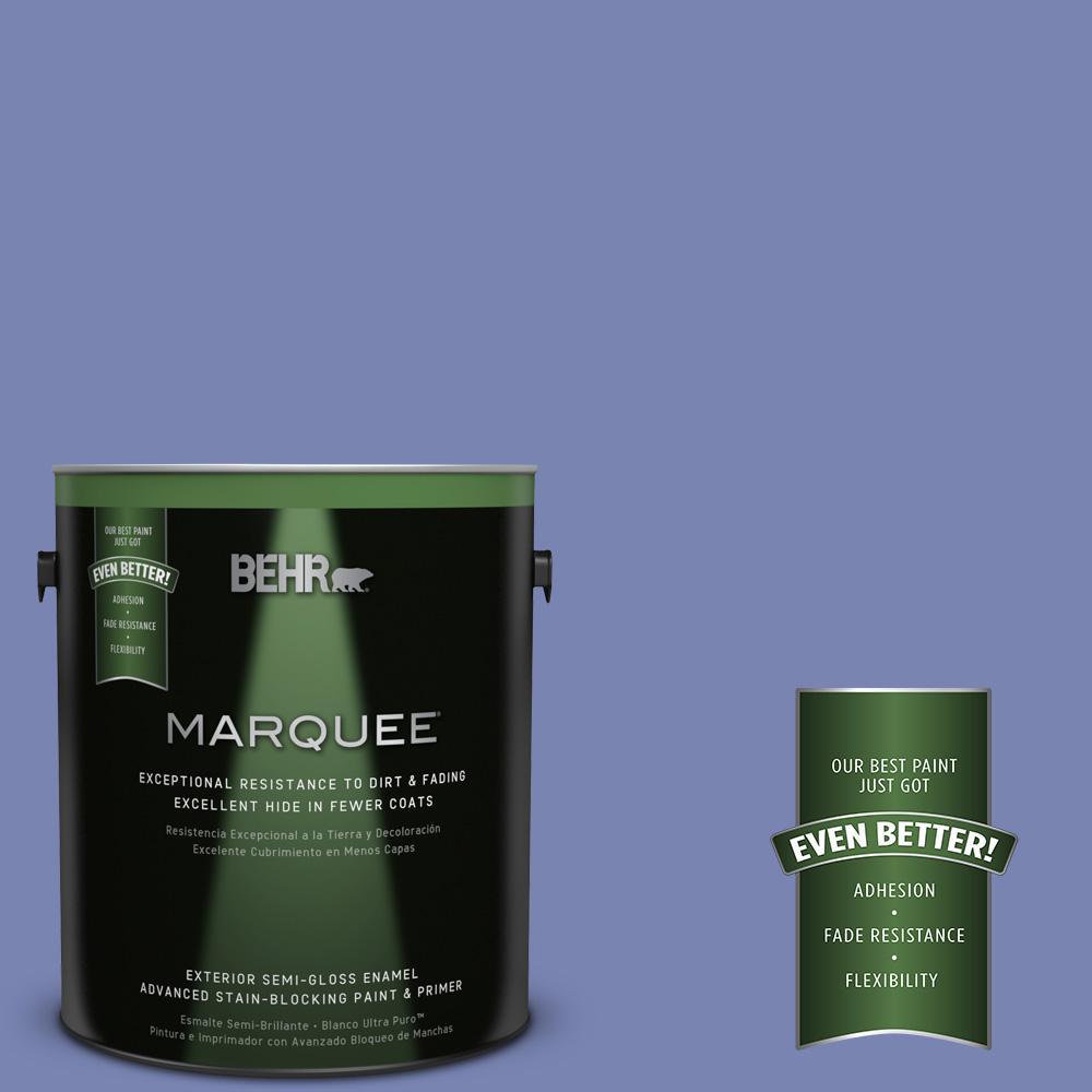 BEHR MARQUEE 1-gal. #610B-5 Corsican Purple Semi-Gloss Enamel Exterior Paint