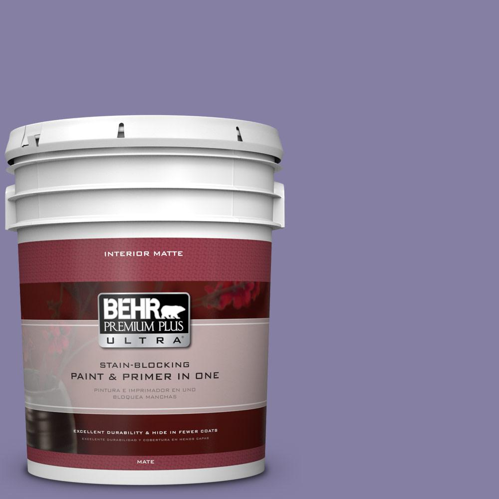 5 gal. #640D-6 Chinese Violet Flat/Matte Interior Paint
