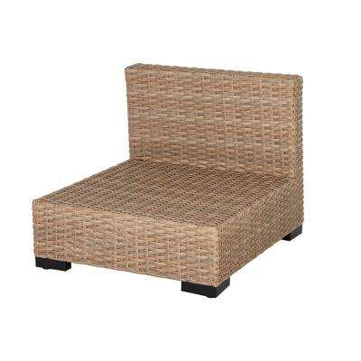 Commercial Natural Wicker Armless Middle Outdoor Sectional Chair