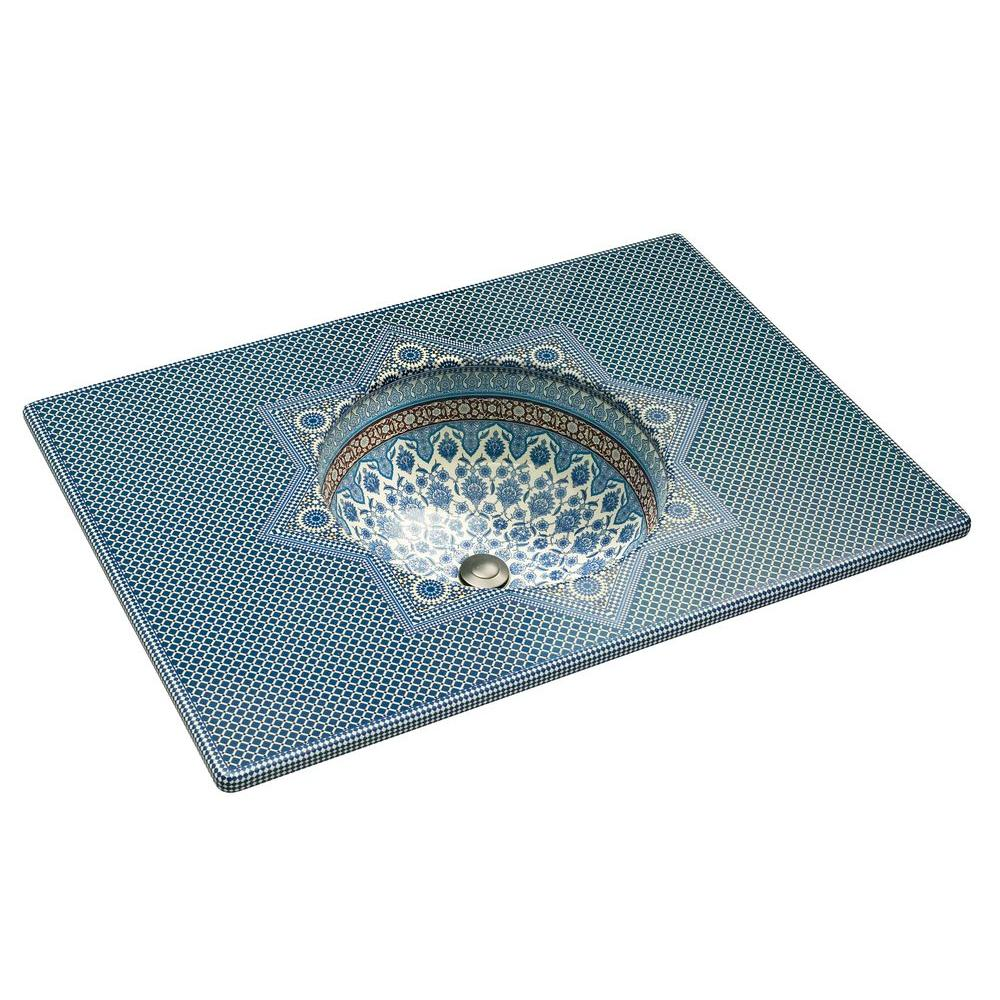 KOHLER Marrakesh Vitreous China Undermount Vitreous China Tabletop Bathroom Sink in Biscuit